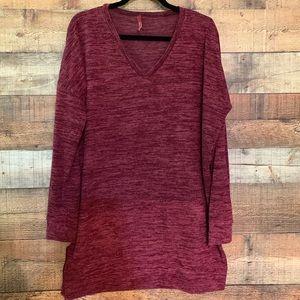 Bellamie burgundy tunic, size XL